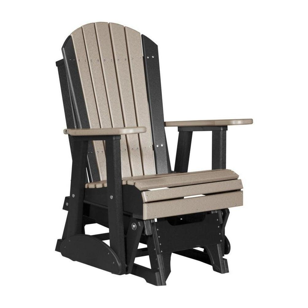 Amazon.com: 2 Adirondack Poly planeador silla weatherwood y ...