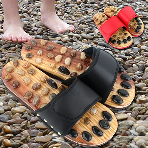 Slippers Slippers Cobblestone Foot Xlight Acupoint Massage Shoes ca Unisex Red and Women Nature for Foot Men wI0vqBf0p