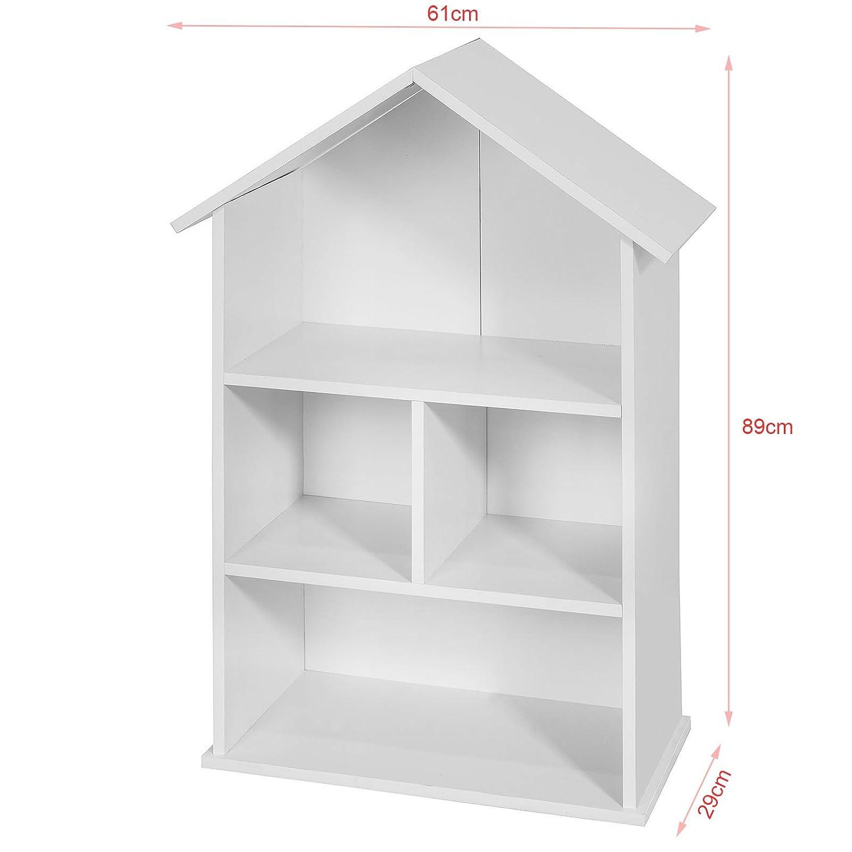 SoBuy KMB02-W Bücherregal für Kinder Hausfom Kinderregal ...