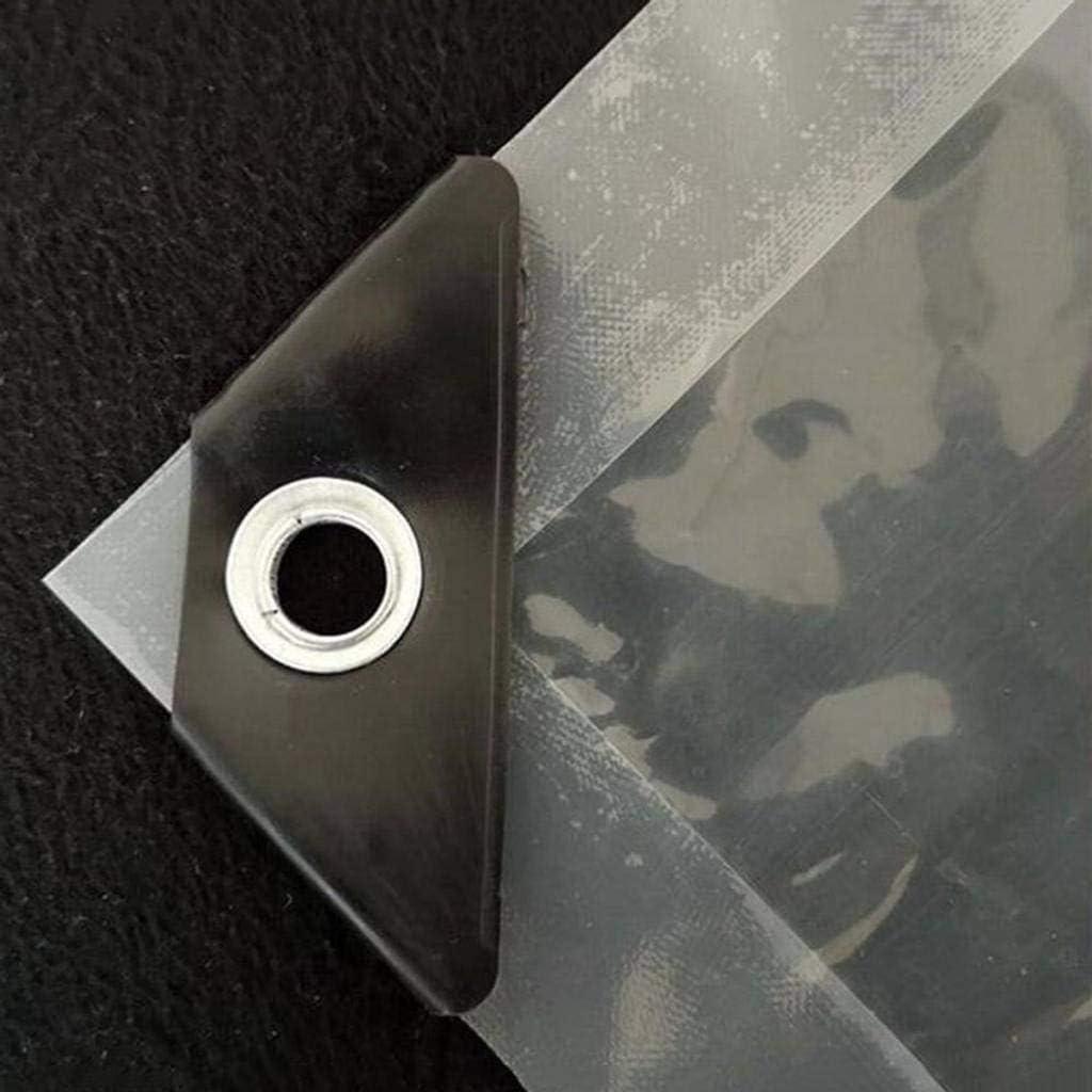 TAIHXIN Trasparente Tarps,Multi Scopo Impermeabile Poli tra Copertina Impermeabile Vetro Indossare Resistente Esterni Plastica PVC Telone Isolamento-1metro*2metro
