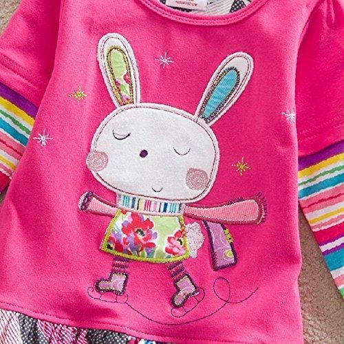 Ragazze Manicotto Vestiti Vestiti Cotone I Q91101 Delle Neonate Per 8 Del Vikita Bambini Lungo Dei Anni Dal 2 BrBqv