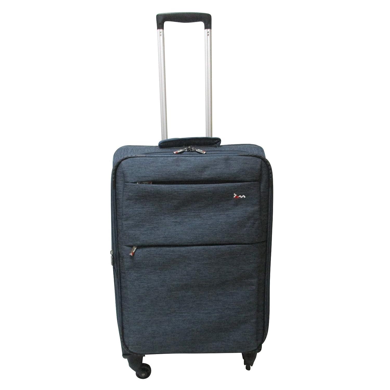 "JAM Voyager 19"" Black Super Light Trolley Case Wheeled Travel Suitcase Luggage"