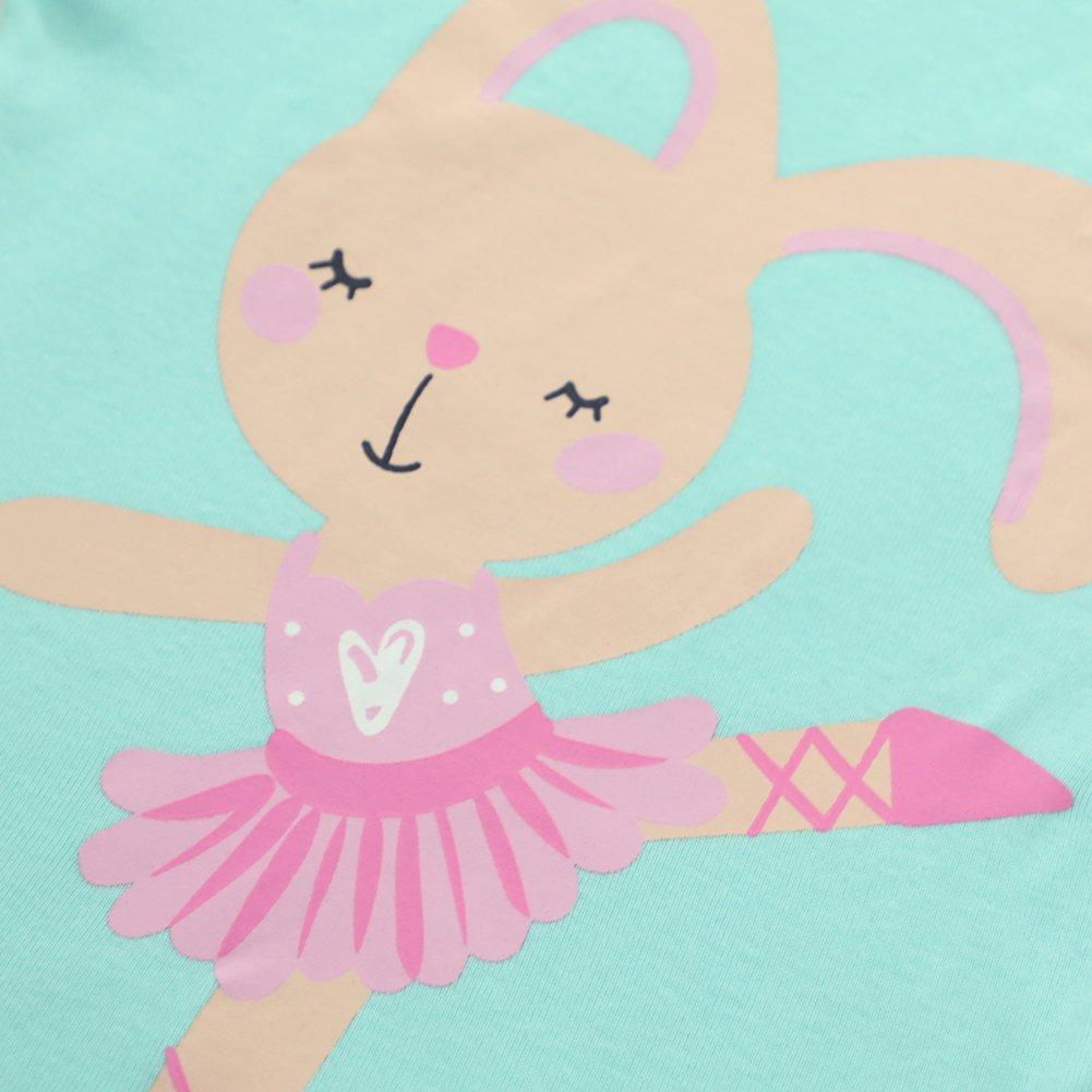 Girls Rabbit Pajamas Childrens 100/% Cotton Clothes Set Toddler Pjs Sleepwears