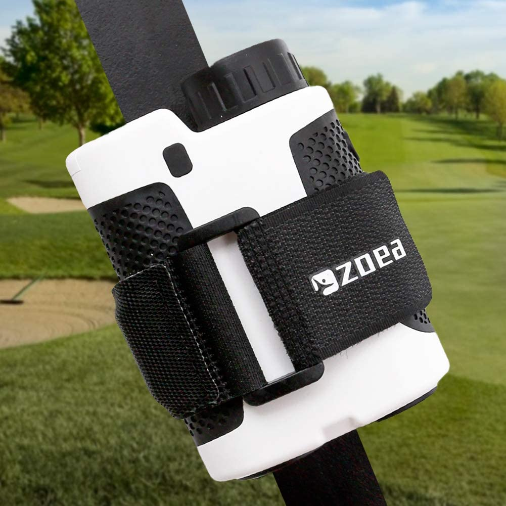 ZOEA Magnetic Rangefinder Mount Strap for Golf Cart Railing, Adjustable Rangefinder Mount/Holder/Strap/Band with Strong Magnet Securely Attach to Most Rail/Bar/Frame of Golf Cart