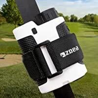 ZOEA Magnetic Rangefinder Mount Strap for Golf Cart Railing, Adjustable Rangefinder Mount/Holder/Strap/Band with Strong Magnet Securely Attach to Most Rail/Bar/Frame of Golf Cart