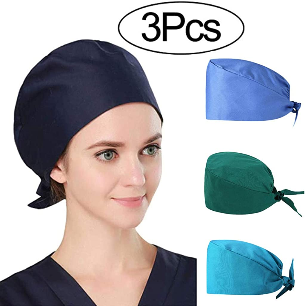 Bonnet Chirurgical Tissu Unisexe Cravate Bonnet Chirurgicale /ÉCran Facial Transparente Anti Salive B/éB/é Fille Gar/çOn Chapeau De Soleil Anti-UV Coton Respirant Pliable Tour De T/êTe Chapeau De Travail