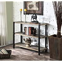 Convenience Concepts Wyoming 3-Tier Console Bookcase, China Fir Shelves