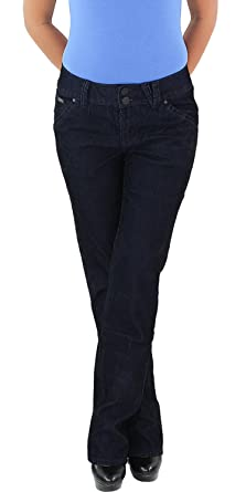 DAMEN JEANS HOSE gerader Schnitt Stretch Hose Straight Fit