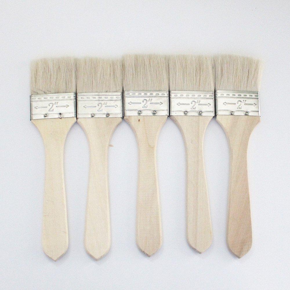 5 pcs Wool Brush, brush glue,sweep gold leaves,Good quality wool brush,soft, a good tool for gilding leaves, #2