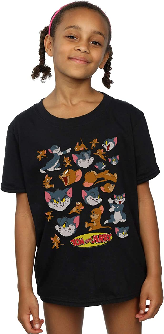 Absolute Cult Tom and Jerry Girls Many Faces T-Shirt