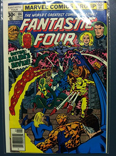 Fantastic Four #186 Enter: Salem's Seven Sep 77 Near-Mint (7 out of 10) Very Lightly Used by Mickeys Pubs