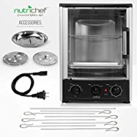 Nutrichef Upgraded Multi-Function Rotisserie Vertical Countertop Oven (AZPKRT97)