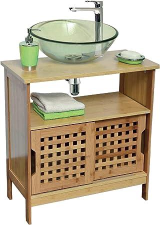 TENDANCE Mueble Baño Lavado con 2 Puertas Correderas: Amazon.es: Hogar
