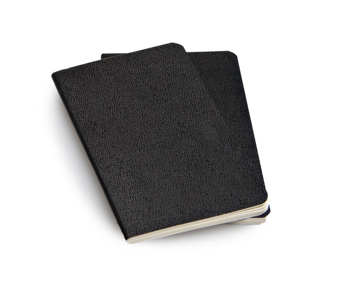Moleskine Volant Notebook (Set of 2), Extra Small, Plain, Black, Soft Cover (2.5 x 4)