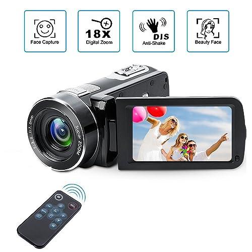 Digital Camcorder with IR Night Vision, Weton 1080P Full HD Digital Video Camera 24.0Mega Pixels 18X Digital Zoom Video Camera (Two Batteries included)