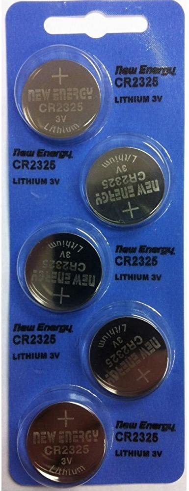 New Energy CR2325 3V Cell Battery Watches and Electronics 5 Pieces