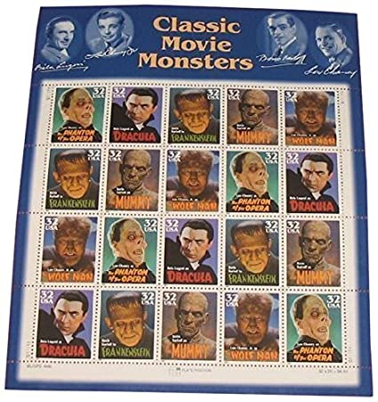 Amazon USPS Classic Movie Monsters Collectible Stamp 32 Cent