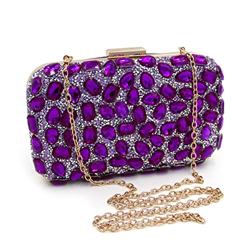 for Rhinestone Purse Clutch Bags Chain Gold Flada Women Luxury with Clutch Evening wTUpxI5qO