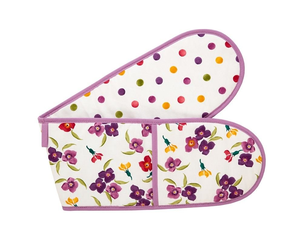 Emma Bridgewater Cotton Double Oven Glove Mitt Mitts Wallflower & Polka Dot Design