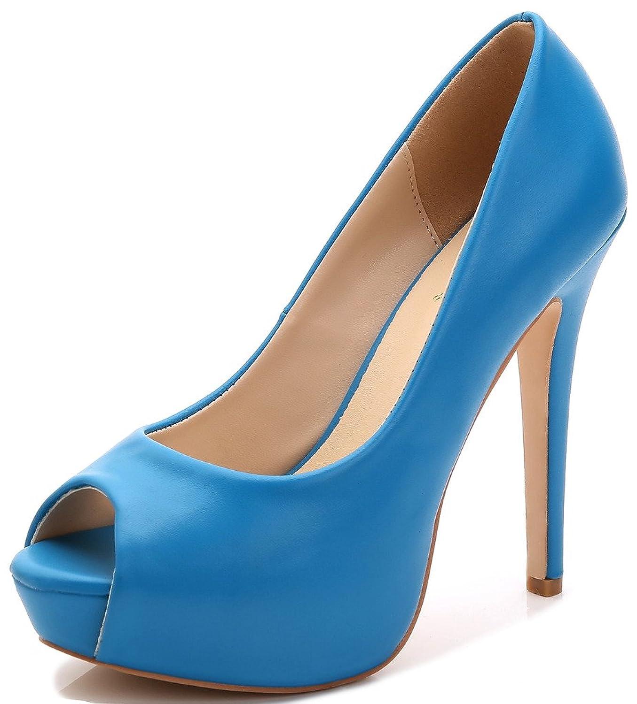 YooPrettyz Women\'s Peep Toe High Heels Wedding Platform Shoes Party ...