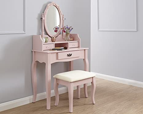 Gb furniture lumberton tavolo da toeletta comò trucco da scrivania