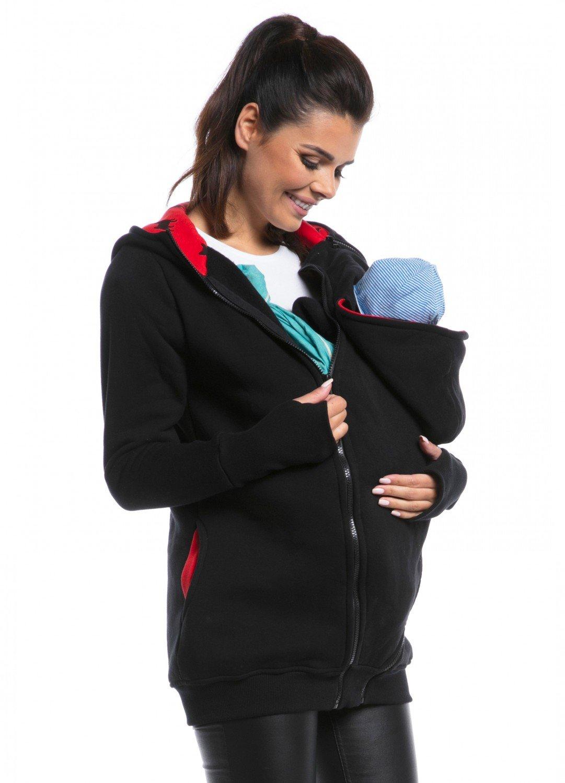 ee5b4641f9f Zeta Ville - Women s Maternity Sweatshirt Hood Removable Panels Pregnancy -  059c carrier top 059