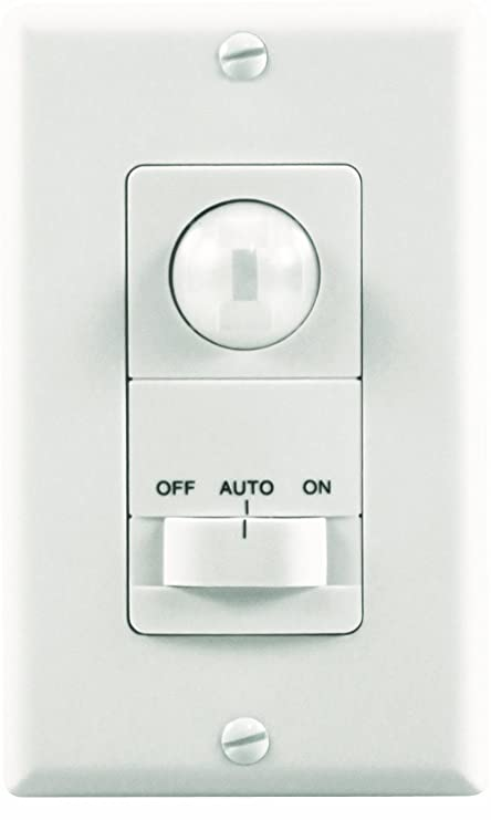 Heath/Zenith SL-6113-WH Motion-Activated Wall Light Switch, White ...