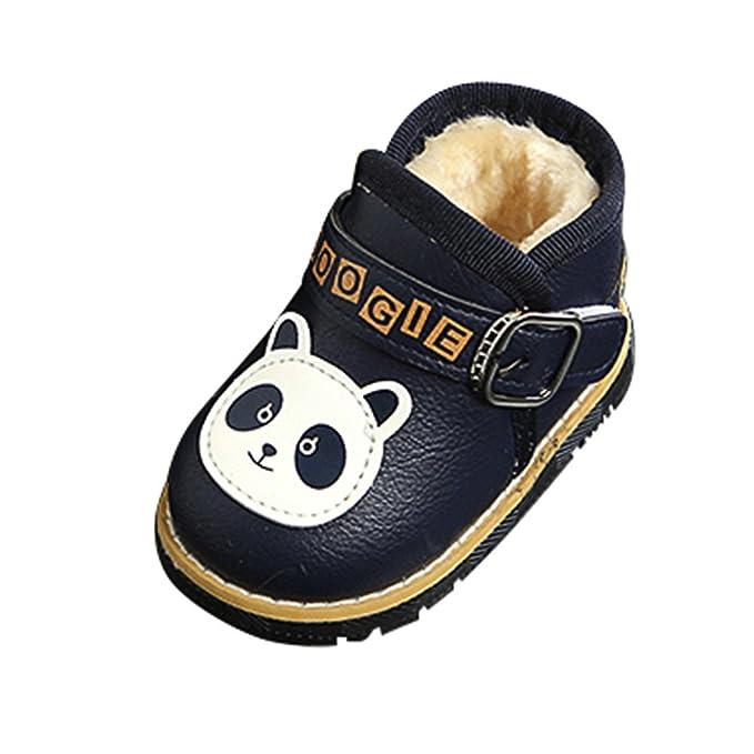 YanHoo Calzado de algodón para niños más Terciopelo cálido y Suave Inferior para niños pequeños Bebé