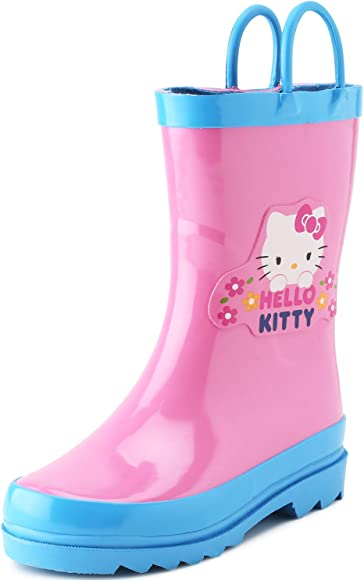 Pink Rain Boots With Bow
