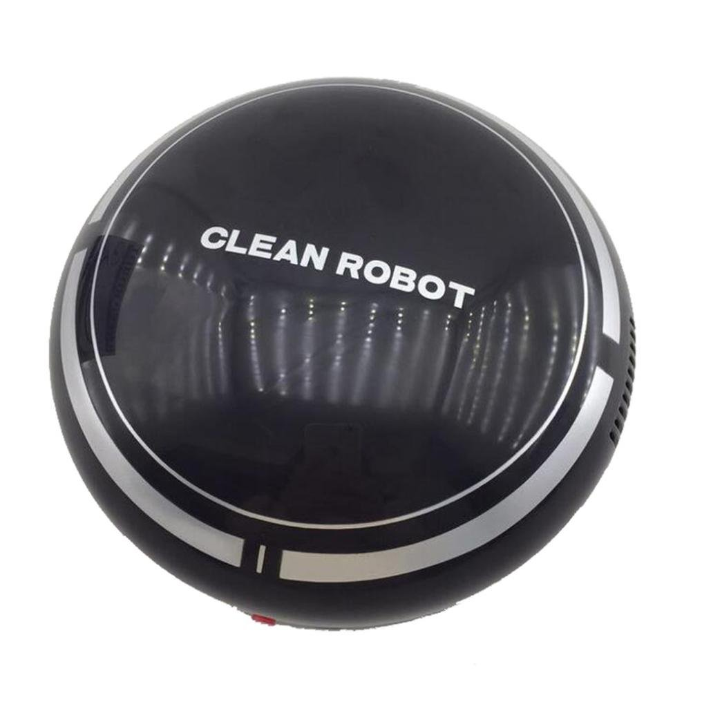 Amiley Robot Vacuum Cleaner, hot sale Automatic USB Rechargeable Smart Robot Vacuum Floor Cleaner Sweeping Suction (Black)