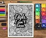 A Snarky Adult Colouring Book: I Run on