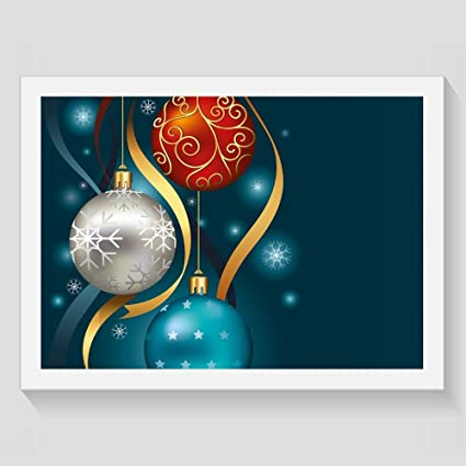 haixia christmas vivid classical baubles with ribbons and different patterns abstract decorative petrol blue grey red - Blue Grey Christmas Decorations