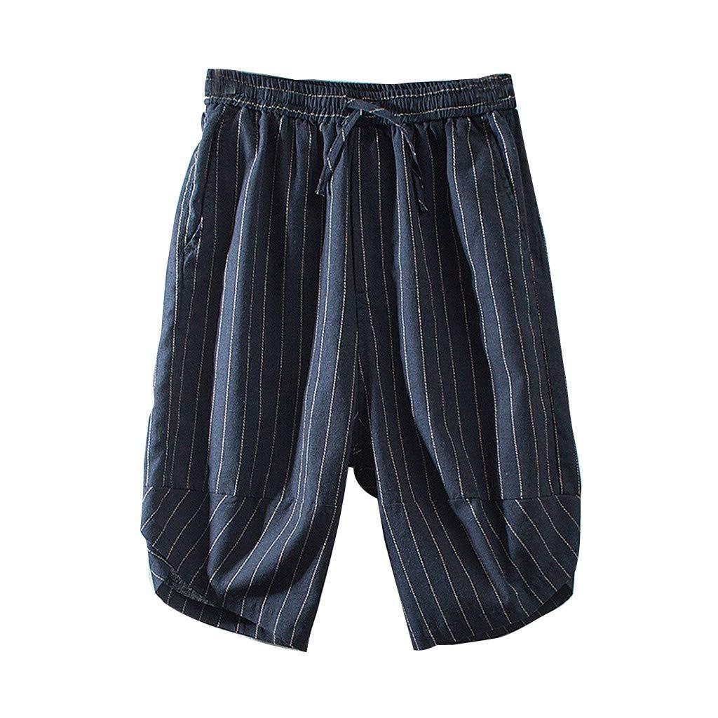 Imakcc Mens Yoga Pants Womens Harem Pants for Wide Leg Pants Short Pants Jogger (M, Blue) by Imakcc-Sports pants