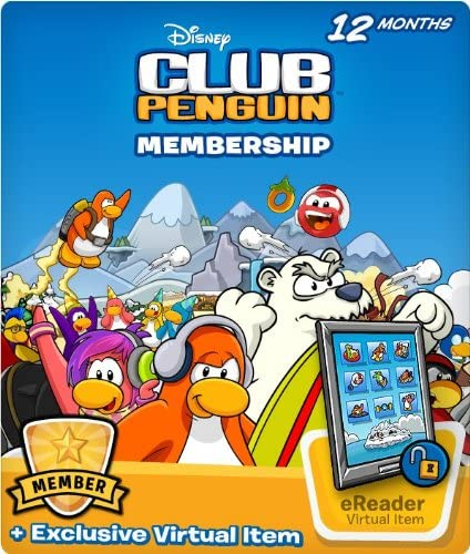Disney Club Penguin 12 Month Membership Code with Free Amazon Exclusive Bonus Item