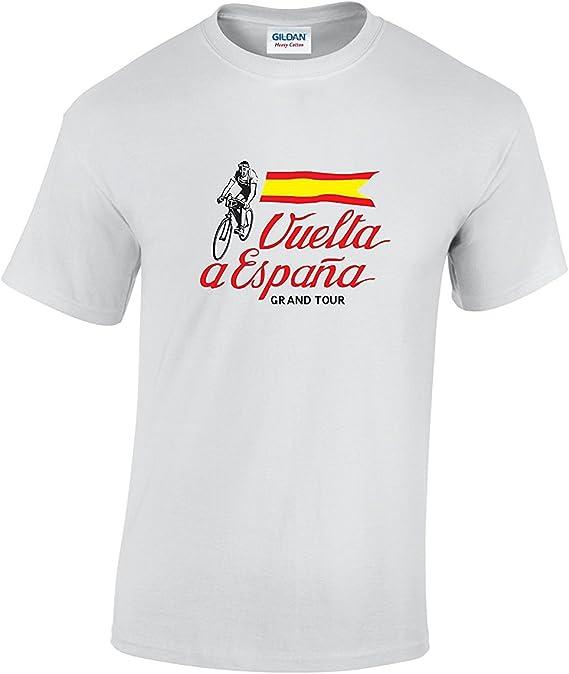 Vuelta a Espana Vintage Bandera Ciclismo Camiseta: Amazon.es: Ropa ...