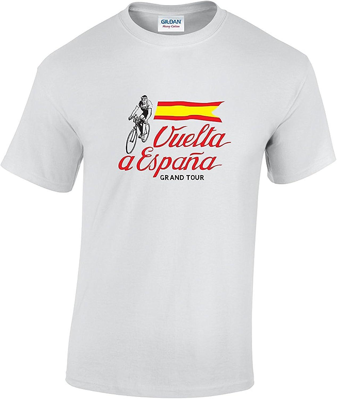 Camiseta de ciclismo de la vuelta a España con bandera Vintage blanco blanco Medium: Amazon.es: Ropa y accesorios