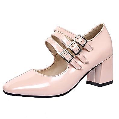 025e3e7487816d AIYOUMEI Damen Lack Mary Jane Pumps mit 6cm Absatz Blockabsatz Elegant  Schuhe - sommerprogramme.de