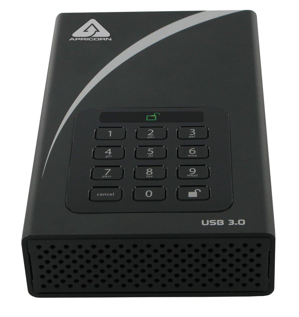 Amazon Apricorn Aegis Padlock 3 Tb Dt 256 Bit Encryption Usb 3
