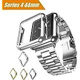 Maxku Apple Watch Series 4 ケース 44mm ケース 高品質PC メーキ加工 耐衝撃性 脱着簡単 超薄 アップル ウォッチ シリーズ4 44mm カバー 4色選択可能 (シルバー)