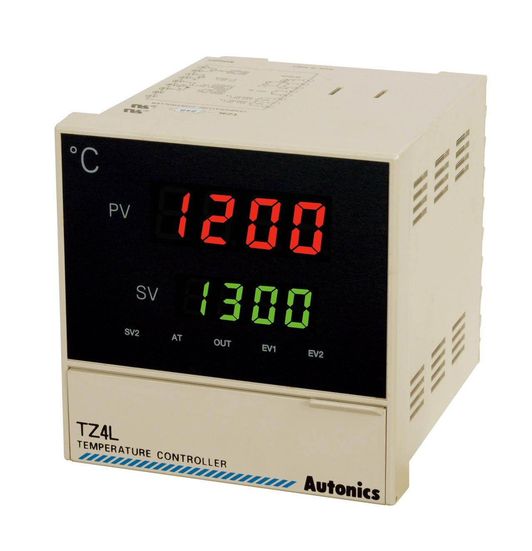 Autonics TZ4L-24R PID Temp Control, 1/4 DIN, Digital, Relay Output, 2 Alarm Outputs, 100-240 VAC by Autonics USA, Inc