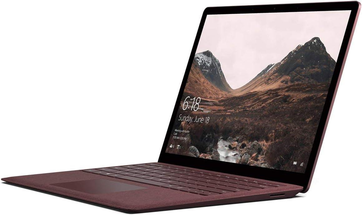 "Microsoft Surface Laptop (1st Gen) DAJ-00041 Laptop (Windows 10 S, Intel Core i7, 13.5"" LCD Screen, Storage: 256 GB, RAM: 8 GB) Burgundy"
