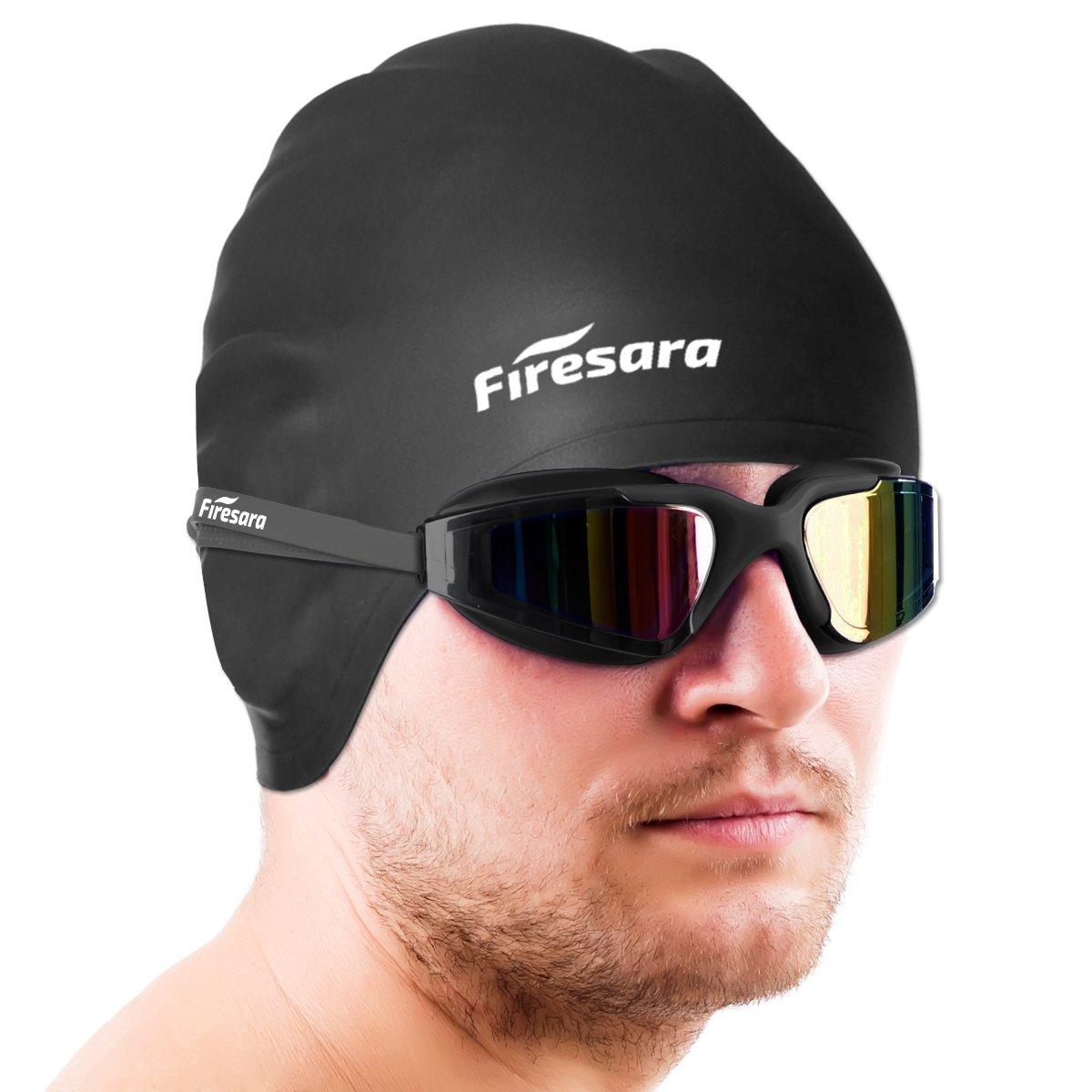 44b0fd5c5575 Firesara Swim Cap Swim Goggles