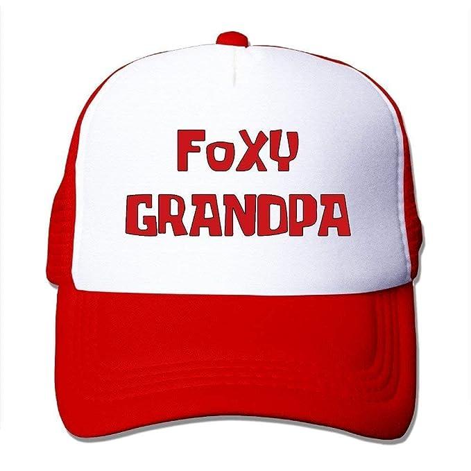 0072c3a1e87 NVJUI JUFOPL Foxy Grandpa Unisex Mesh Truck Hat Snapback Hats Outdoor  Sports Baseball Cap for Adults