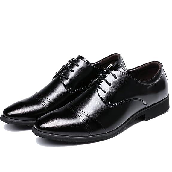 Amazon.com: OUOUVALLEY Zapatos de vestir de cuero Oxford con ...