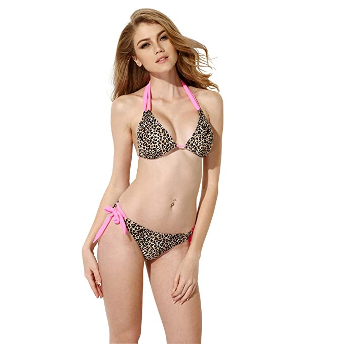 c71c88d14f XSY Women Leopard Triangle Bikini Swimwear Bottom Low Rise Waist Swimsuit  Size S