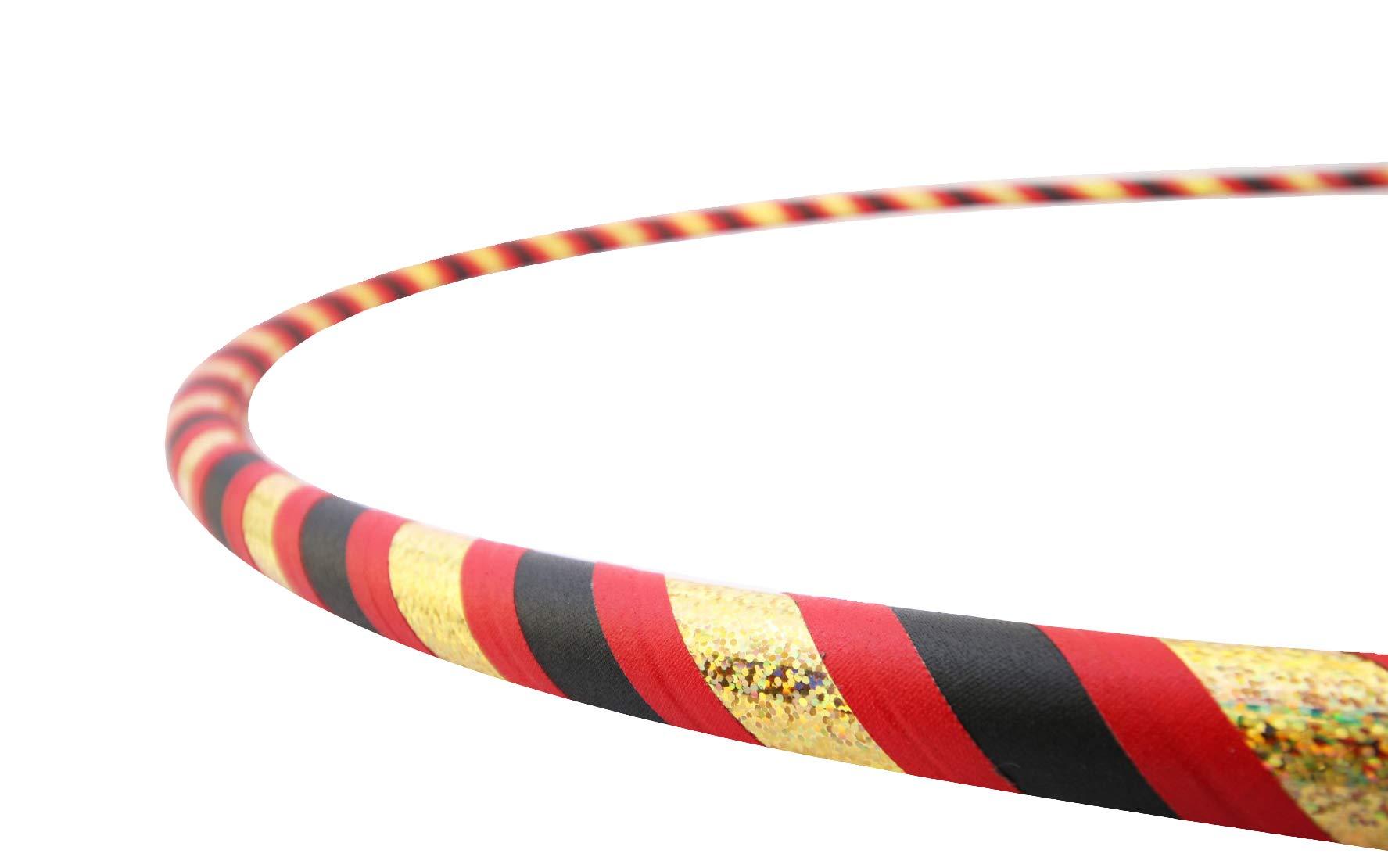 The Spinsterz Adult Beginner Hula Hoop (Ladybug, Small - 36'' Diameter)