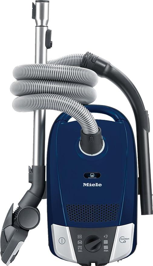 Miele Compact C2 EcoLine Plus – Aspiradora/Sistema de eficiencia energética A/Compact para almacenar/Airclean de filtro/Comfort de Recogecable/umschaltbare universal de suelo Boquilla SBD 650 – 3 AirTeq marineblau: Amazon.es: Hogar