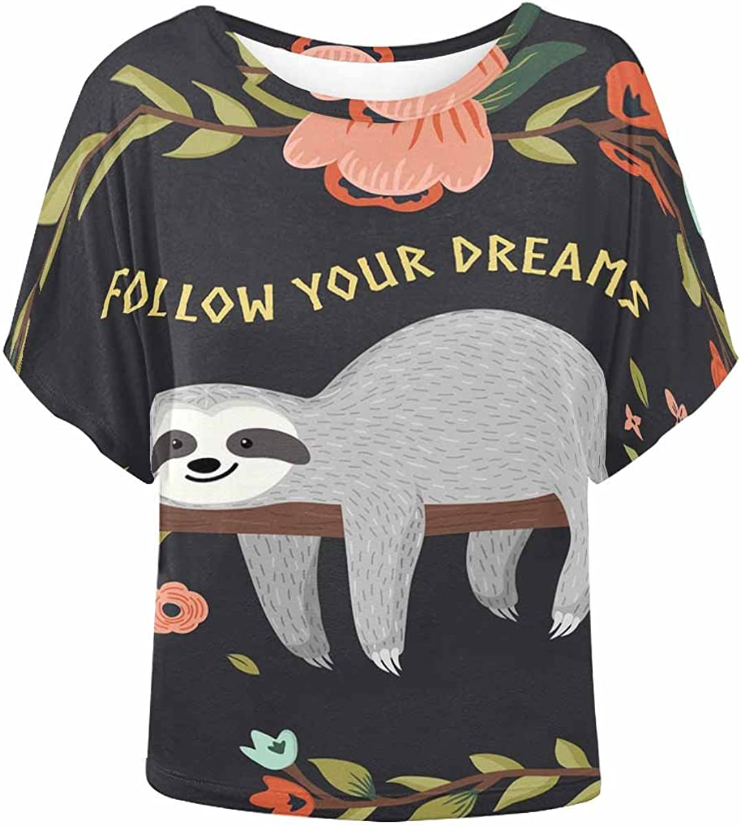 INTERESTPRINT Womens Crew Neck Pullover Donuts Colorful Casual Sweatshirt Tops XS-XL