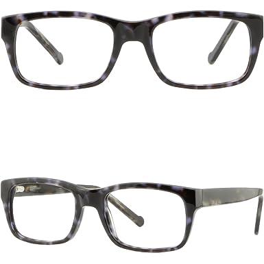 dc117444a1 Rectangle Mens Women Frames Strong Prescription Glasses Spring Hinges Black  Gray