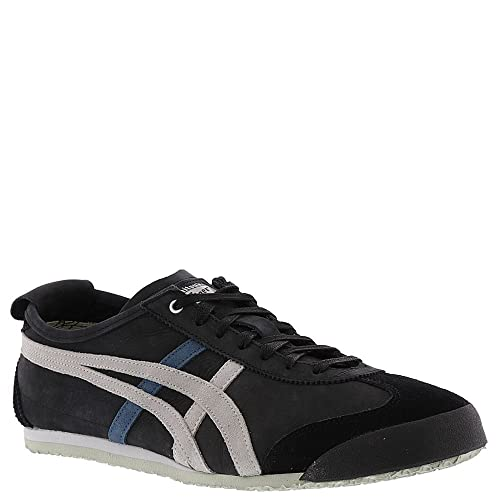 15a0ab4a161 Onitsuka Tiger by Asics Unisex Mexico 66 Black Glacier Grey Men s 5